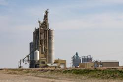The Parrish and Heimbecker grain elevator outside Vulcan, AB